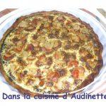 Tarte épinards et noix de St Jacques