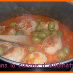 Paupiettes de veau tomates et olives
