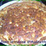 Tarte aux poireaux et au gorgonzola