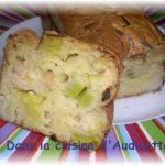 Cake pétoncles, crevettes et poireaux