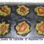 Flan de haricots verts et tomates confites