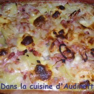Tartiflette aux deux fromages