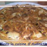 Tarte aux poireaux, champignons, chèvre et camembert