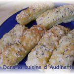 Feuilletés fromages aux graines sesames et pavot