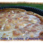 Tarte 3 fromages sur coulis de ratatouille