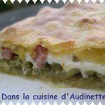 Chausson aux haricots verts et mozzarella