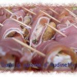 Mini-roulés bayonne, chèvre et figue