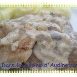 Filet mignon sauce champignons