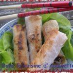 Nems au saumon et aux pousses de bambou
