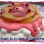 Pink Pavlova aux pommes poêlées