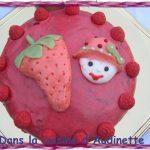 KKVKVK n°18 : gâteau «Charlotte au fraises» à la noix de coco et aux fraises tagada