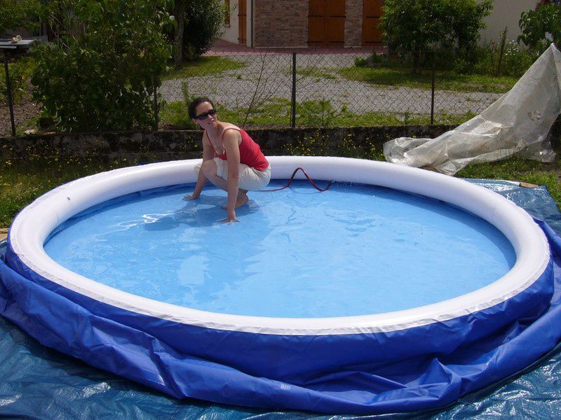 Lissage piscine autoportante