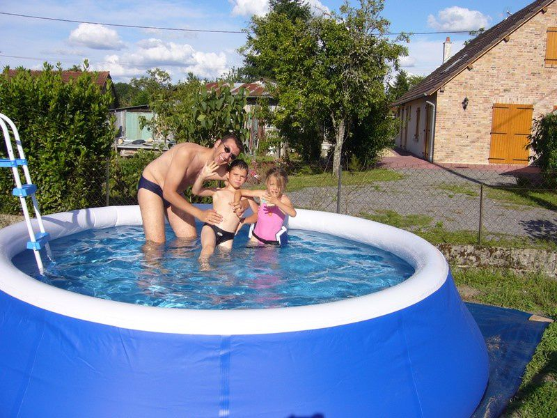 Baignade piscine autoportante