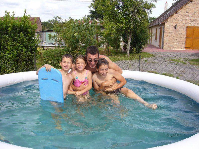 piscine autoportante baignade