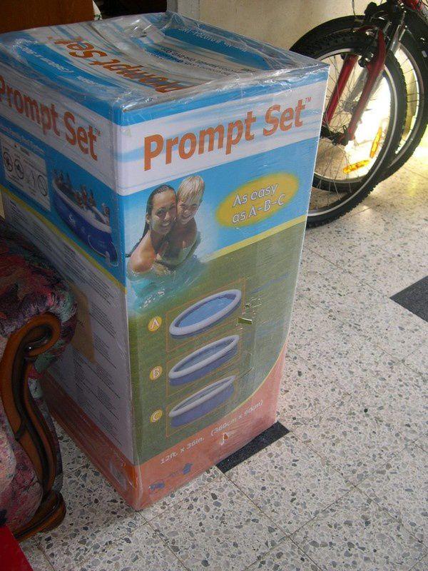carton piscine autoportante
