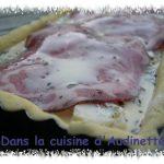 Tarte viva Italia ! Gorgonzola, coppa, sur pâte brisée au parmesan