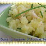 Ecrasé de pommes de terre aux noix de macadamia