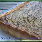 Tarte au caviar de brocoli et crème de Saint Agur