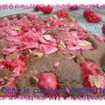 Gâteau amandes chocolat et pralines roses