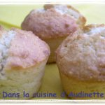 Muffins coco au coeur de chocolat blanc