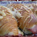 Croissants au jambon