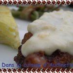 Chicken fried steak with cream gravy – Poulet pané comme au Texas