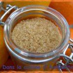 Sucre parfumé aux agrumes et à la vanille