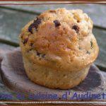 Muffins au beurre de cacahuètes et pépites chocolat