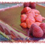 Bavarois fraise passion pour Stéphie