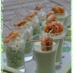 Variation de verrines de concombre