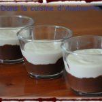 Duo de mousses au chocolat en verrine