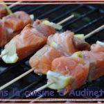 Brochettes aux deux saumons