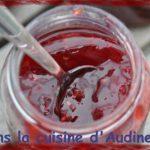 Confiture fraises, groseilles et framboises