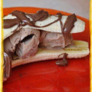 Glace banane nutella dans un banana split