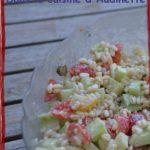 Salade composée au blé et au Saint-Morêt