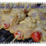 Brochettes de poulet à la sauce indienne au yaourt