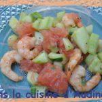 Salade de crevettes au pamplemousse rose