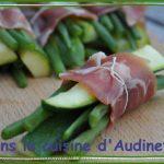 Fagots de haricots verts et courgettes