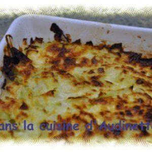 Gratin de chou blanc au fromage blanc