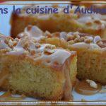 Lingot aux pommes, sauce caramel et éclats de nougatine