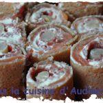 Maki «breton» au saumon fumé, fromage frais, asperge et bressaola