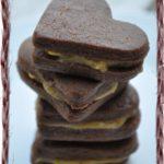 Coeur sablés chocolat au pamplemousse curd