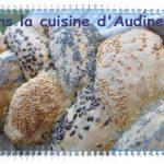 Tresse tricolore : pain tressé aux trois graines
