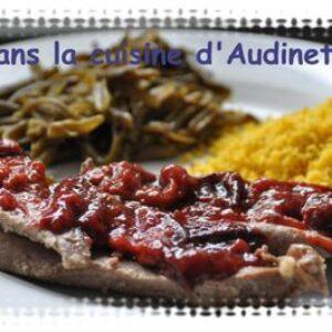 Aiguillettes de Canard et sa compotée de prunes