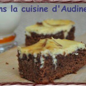 Marbled choc brownies – Brownie marbré à la ricotta