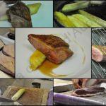 Salons 113 – Le plat : Magret de canard rôti au miel et poireau glacé