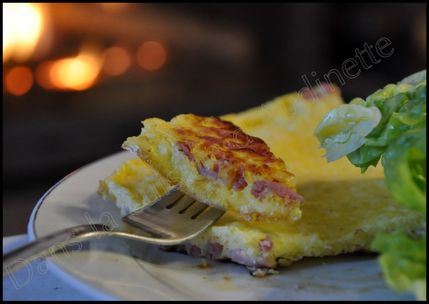 omelette lardon fromage soufflé
