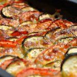 Tian de courgettes, tomates et mozarella