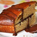 Gâteau au yaourt à la fève tonka fourré au la sauce chocolat