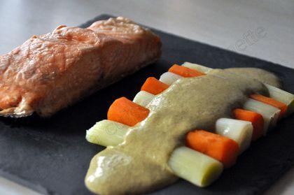 pavé de saumon sauce oseille dukan